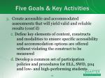 five goals key activities3