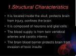 1 structural characteristics