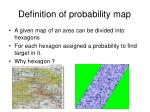 definition of probability map