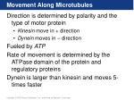 movement along microtubules
