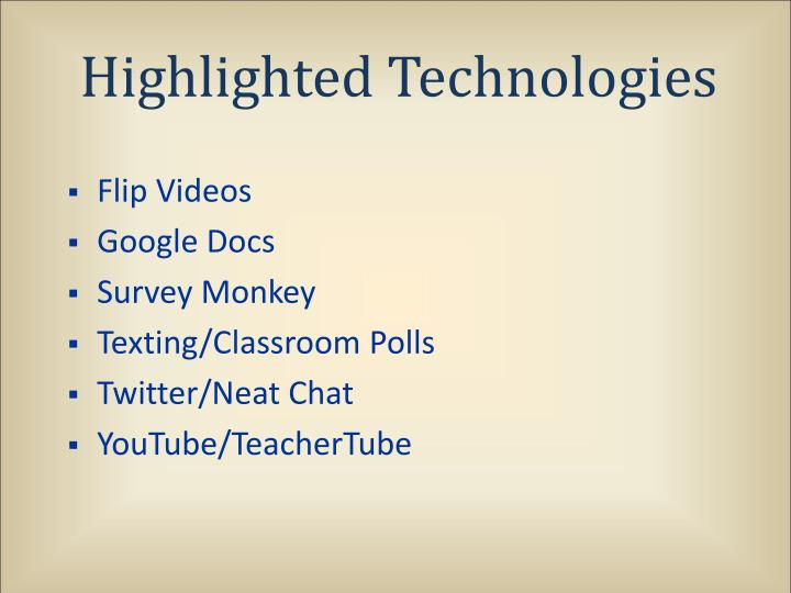 Highlighted Technologies