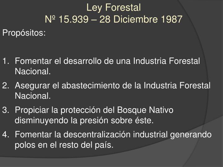 Ley Forestal