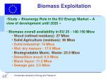 biomass exploitation