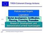 tren coherent energy actions