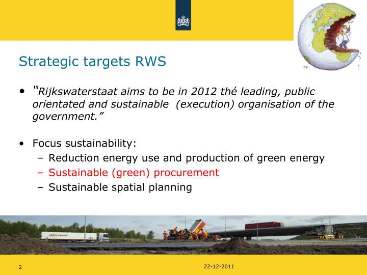 Strategic targets rws