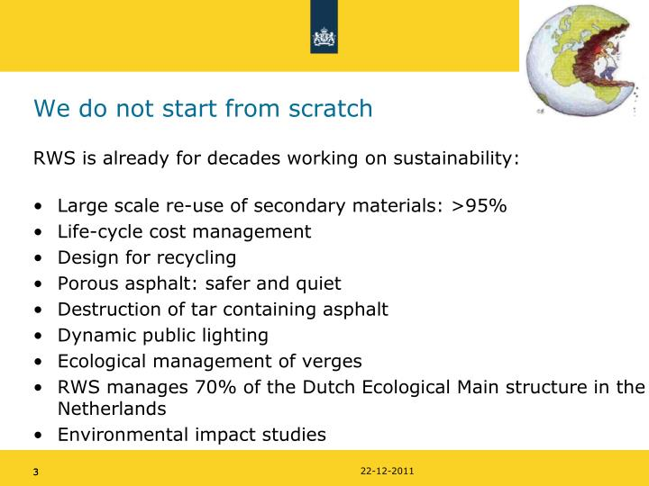 We do not start from scratch