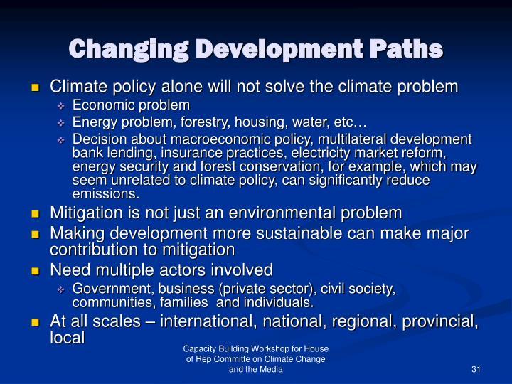 Changing Development Paths
