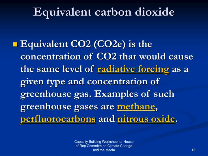 Equivalent carbon dioxide