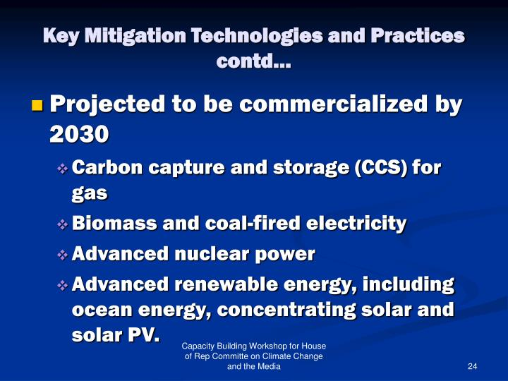 Key Mitigation Technologies and Practices