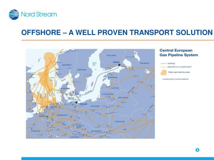 OFFSHORE – A WELL PROVEN TRANSPORT SOLUTION
