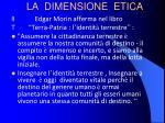 la dimensione etica
