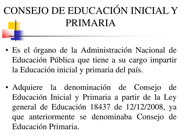 CONSEJO DE EDUCACIÓN INICIAL Y PRIMARIA