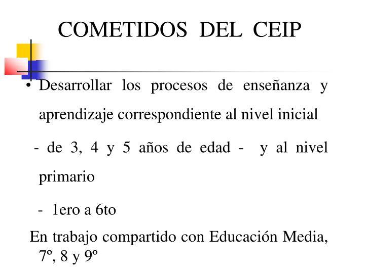 COMETIDOS  DEL  CEIP