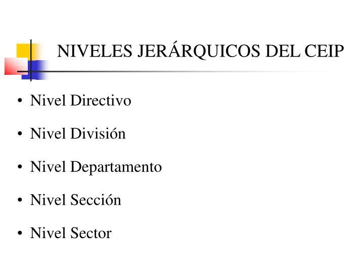 NIVELES JERÁRQUICOS DEL CEIP