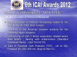 major achievements tata steel