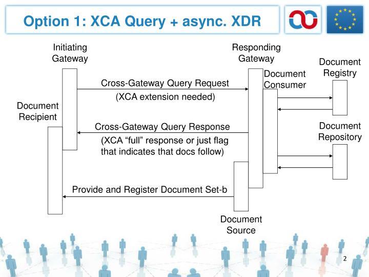Option 1 xca query async xdr
