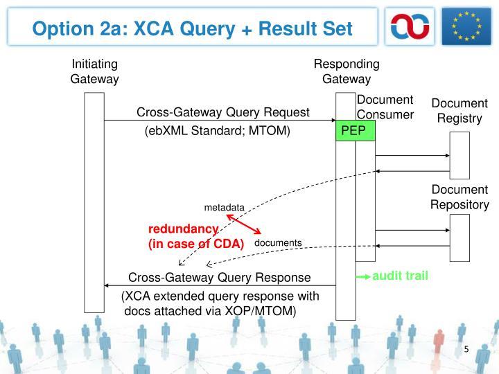 Option 2a: XCA Query + Result Set