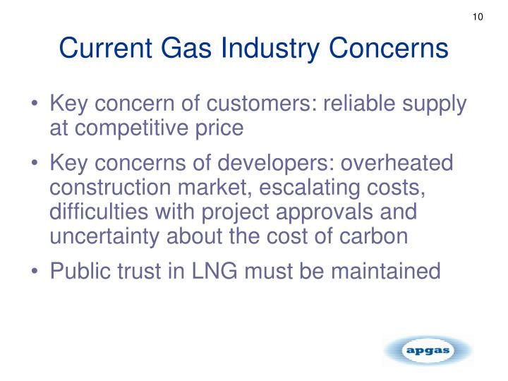 Current Gas Industry Concerns