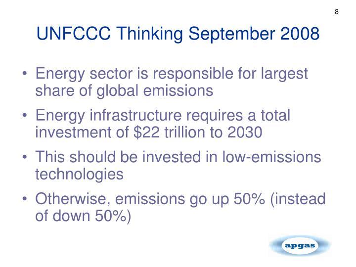 UNFCCC Thinking September 2008