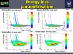 energy loss parametrisation