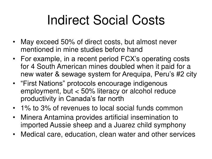 Indirect Social Costs