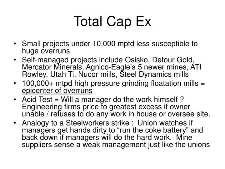 Total Cap Ex
