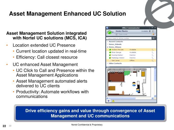 Asset Management Enhanced UC Solution