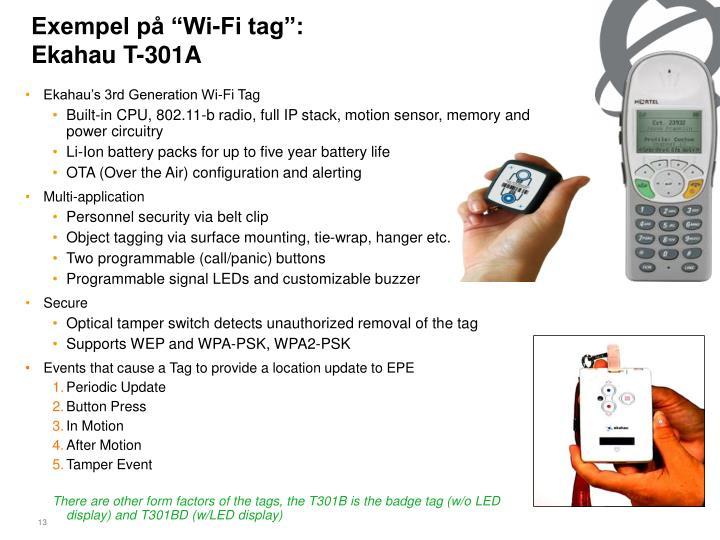 "Exempel på ""Wi-Fi tag"":"