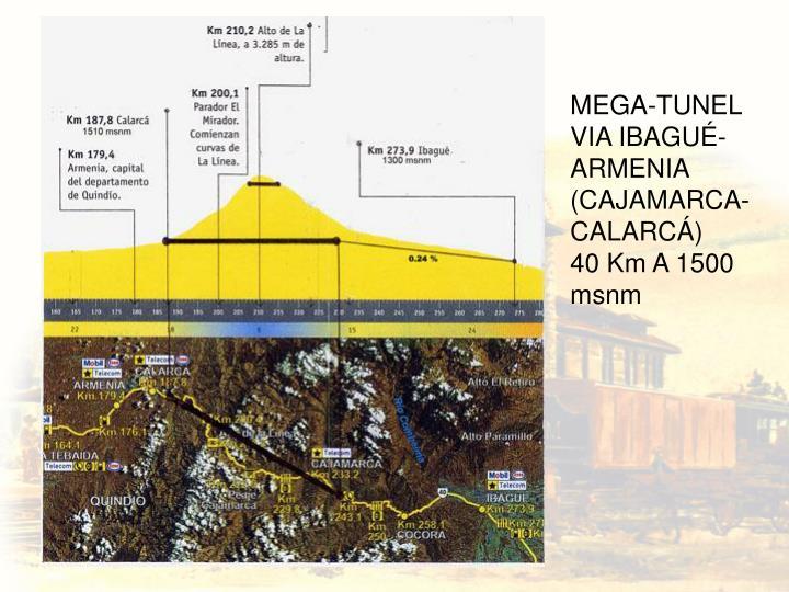 MEGA-TUNEL VIA IBAGUÉ-ARMENIA