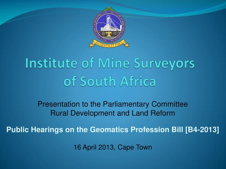Institute of mine surveyors of south africa