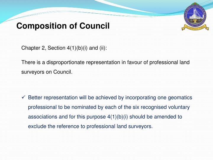Composition of Council
