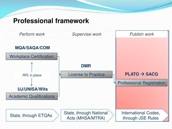 Professional framework