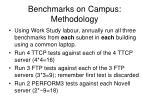 benchmarks on campus methodology