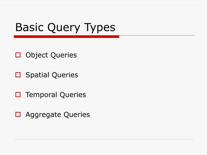 Basic Query Types
