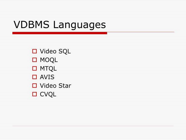 VDBMS Languages