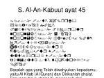 s al an kabuut ayat 45
