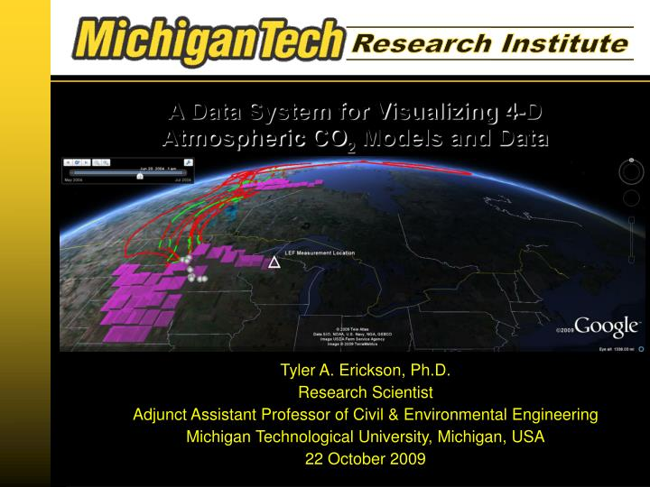 A data system for visualizing 4 d atmospheric co 2 models and data
