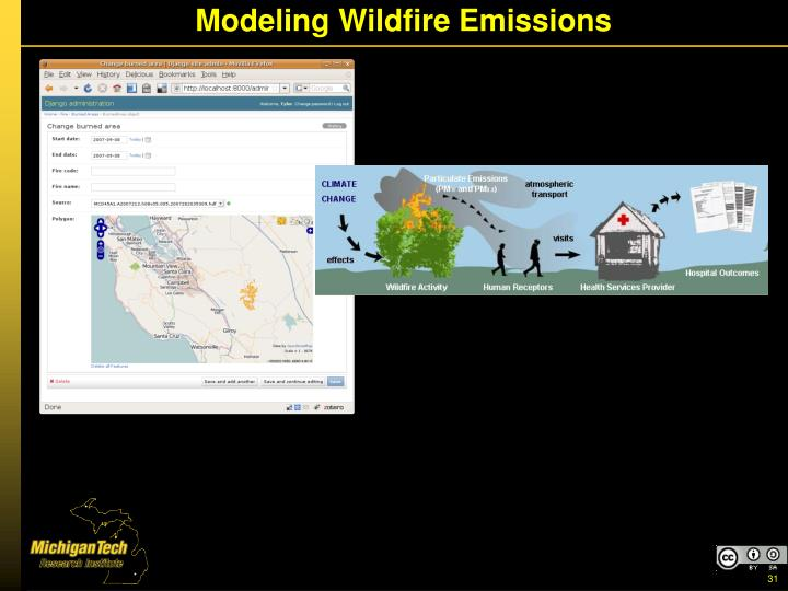 Modeling Wildfire Emissions