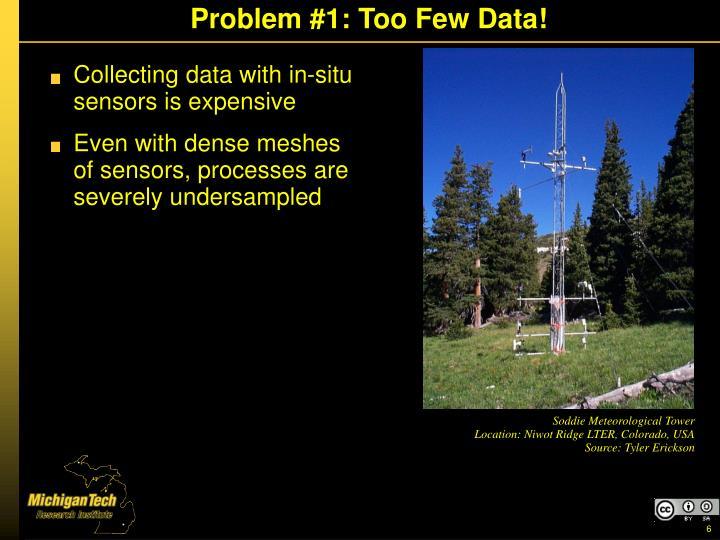 Problem #1: Too Few Data!