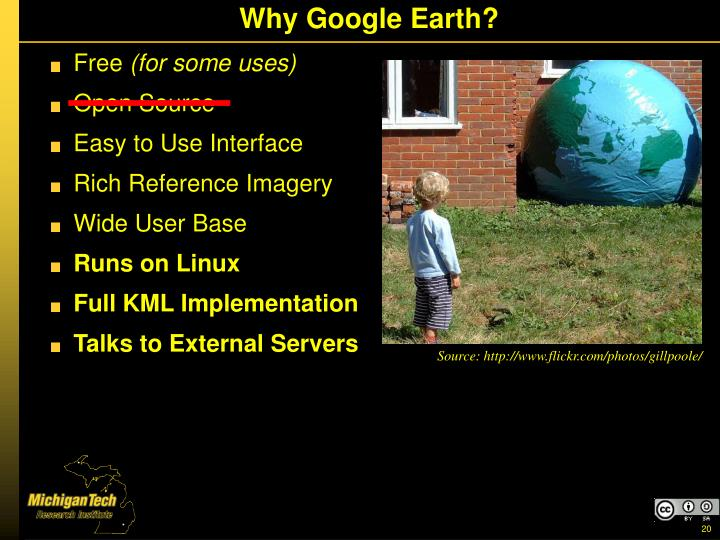 Why Google Earth?