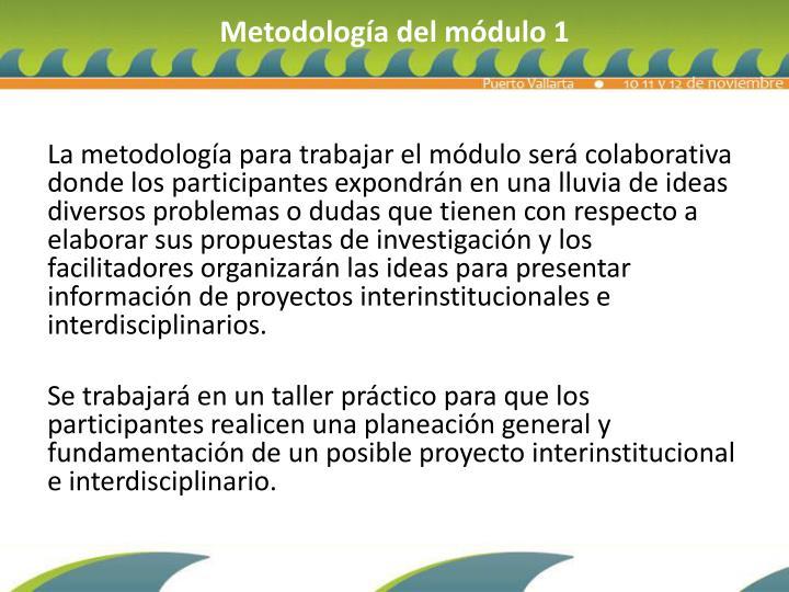 Metodología del módulo 1