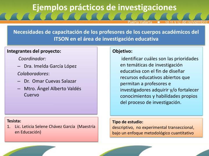 Necesidades de capacitación de los profesores de los cuerpos académicos del ITSON en el área de investigación educativa