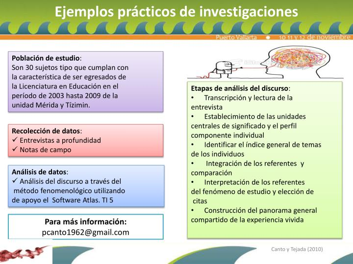 Ejemplos prácticos de investigaciones