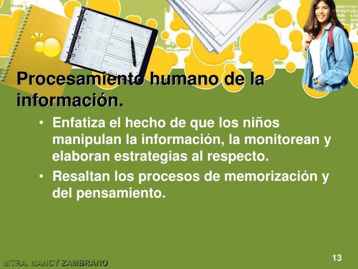 Procesamiento humano de la información.