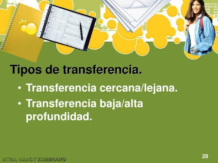 Tipos de transferencia.