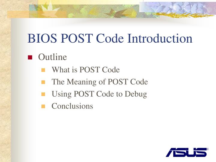 Ppt Bios Post Code Introduction Powerpoint Presentation Free Download Id 4378353