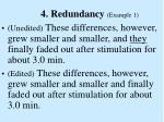 4 redundancy example 1