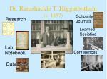 dr ramshackle t higginbotham c 1857