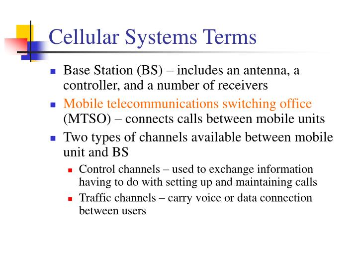 Cellular Systems Terms