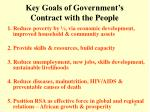 key goals of government s contract with the people